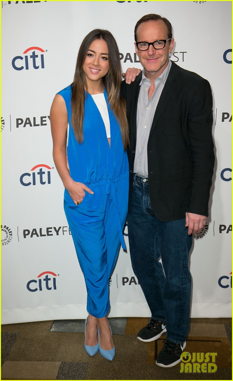 chloe bennet clark gregg promote agents of s h i e l d at paleyfest 03