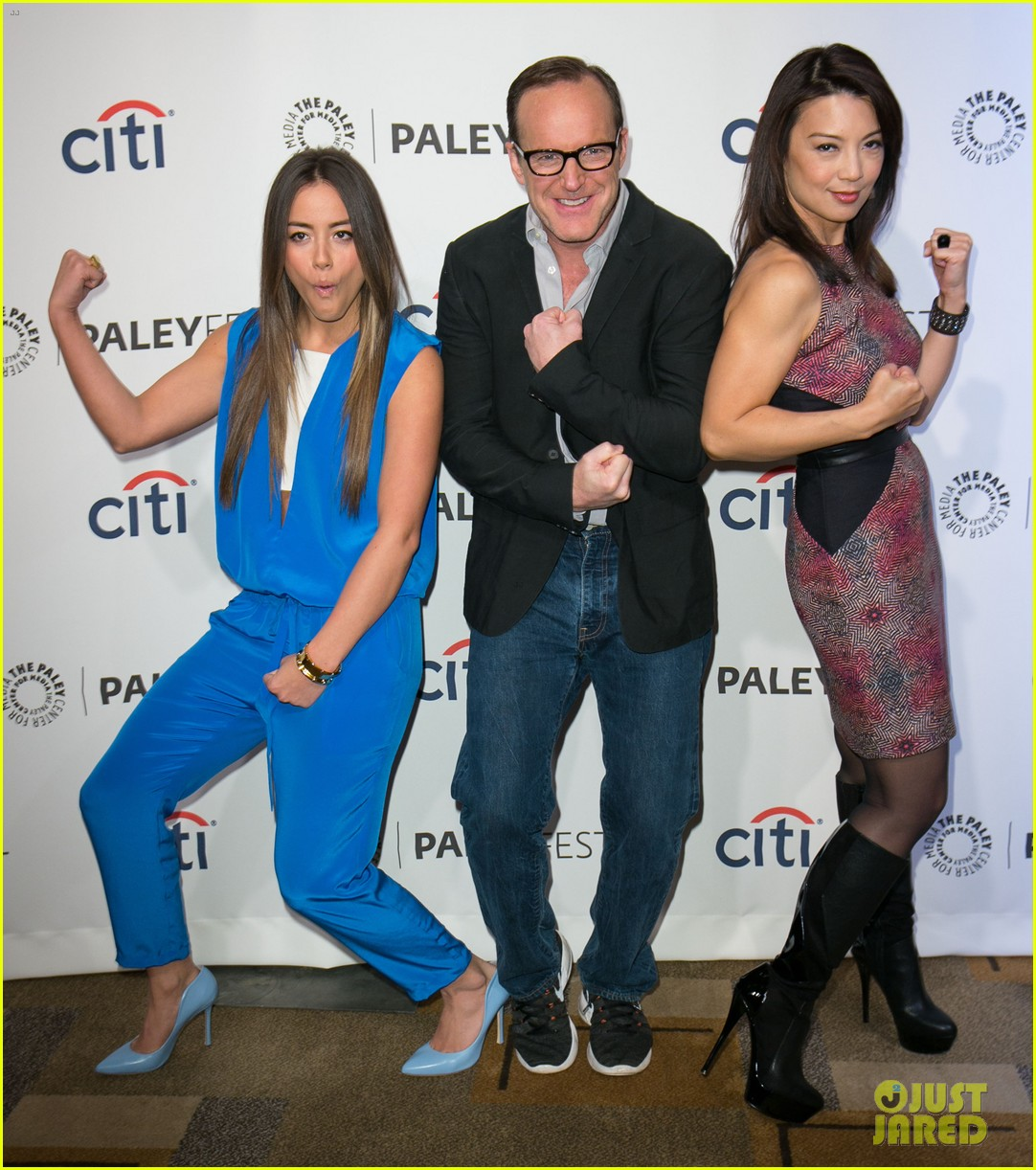 chloe bennet clark gregg promote agents of s h i e l d at paleyfest 053077609