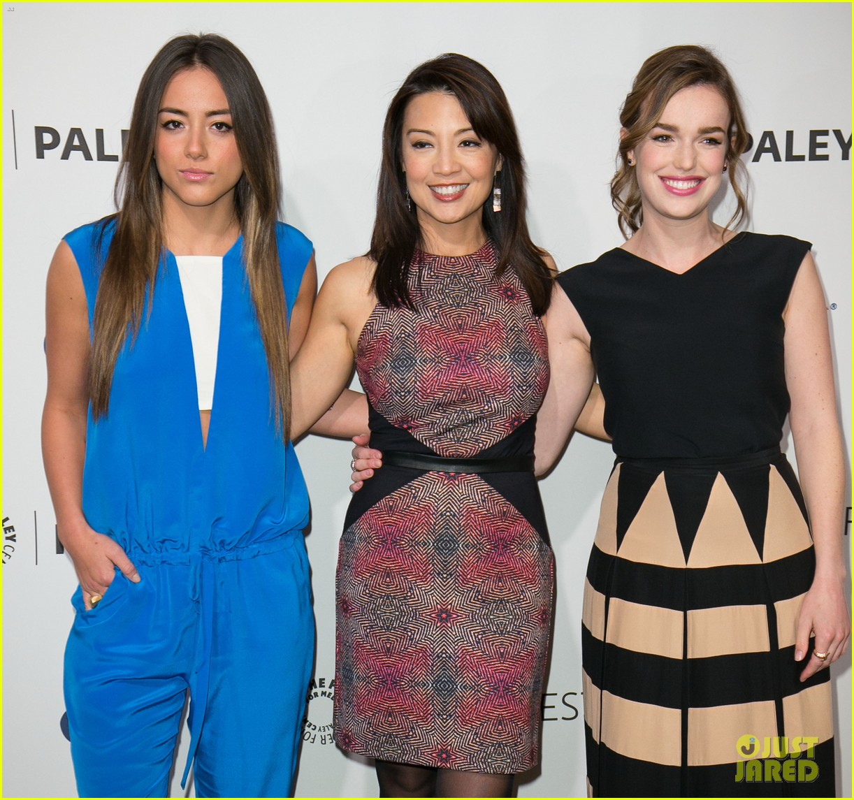 chloe bennet clark gregg promote agents of s h i e l d at paleyfest 073077611