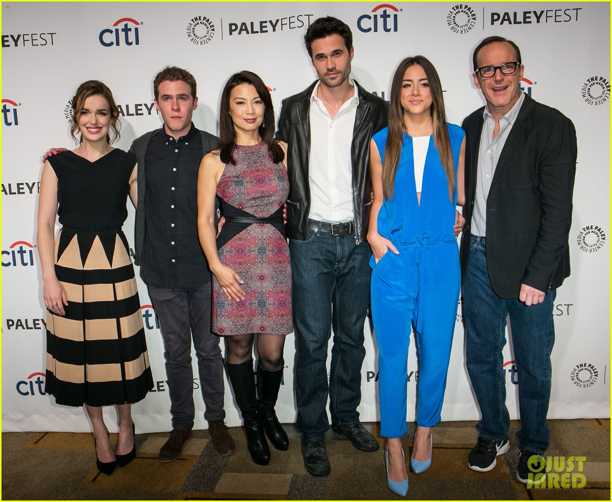 chloe bennet clark gregg promote agents of s h i e l d at paleyfest 103077614