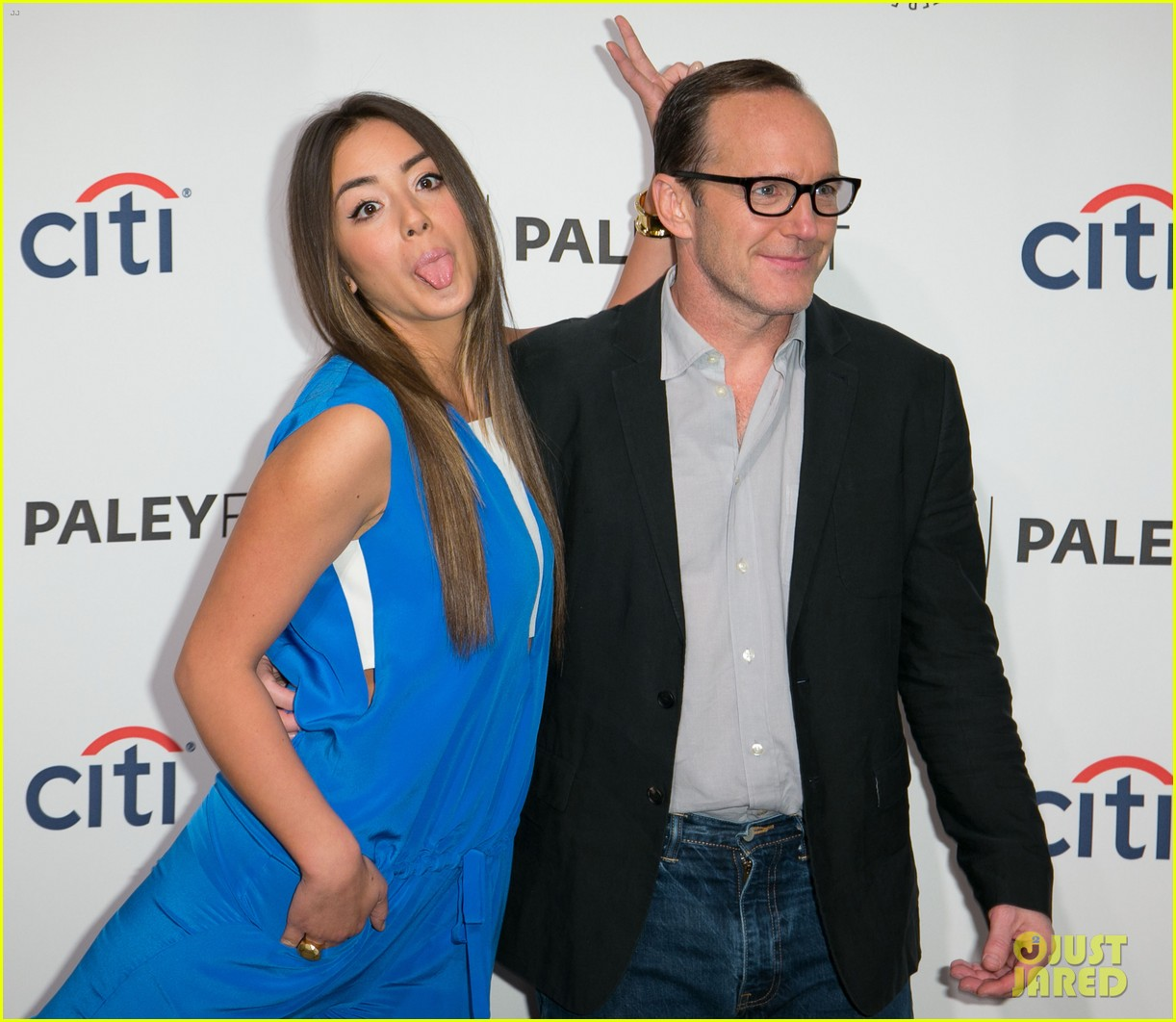 chloe bennet clark gregg promote agents of s h i e l d at paleyfest 19
