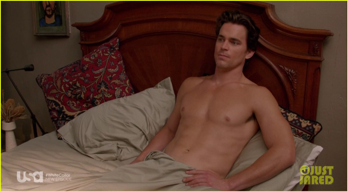 matt bomer shirtless sexy in recent white collar episode 013075602