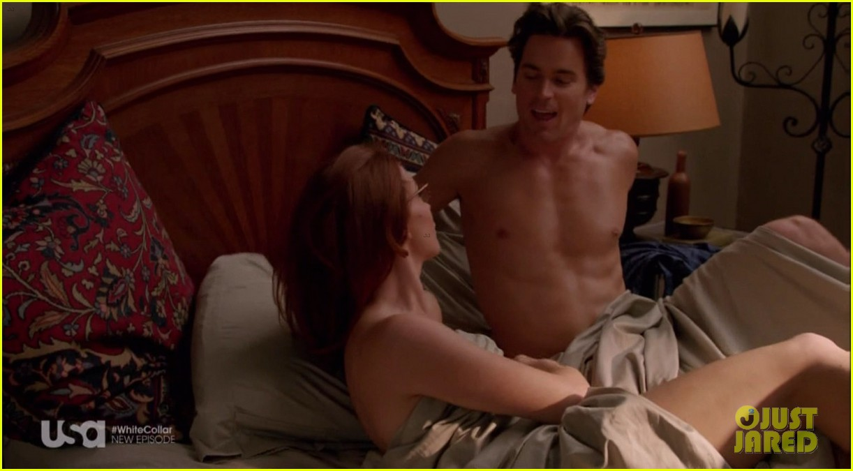 matt bomer shirtless sexy in recent white collar episode 093075610