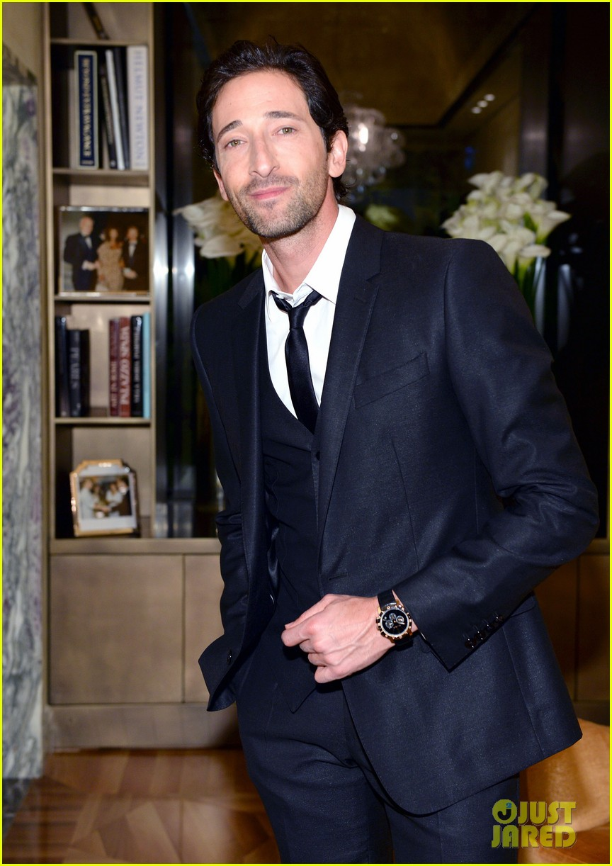adrien brody sure knows how to wear a three piece suit 033076123