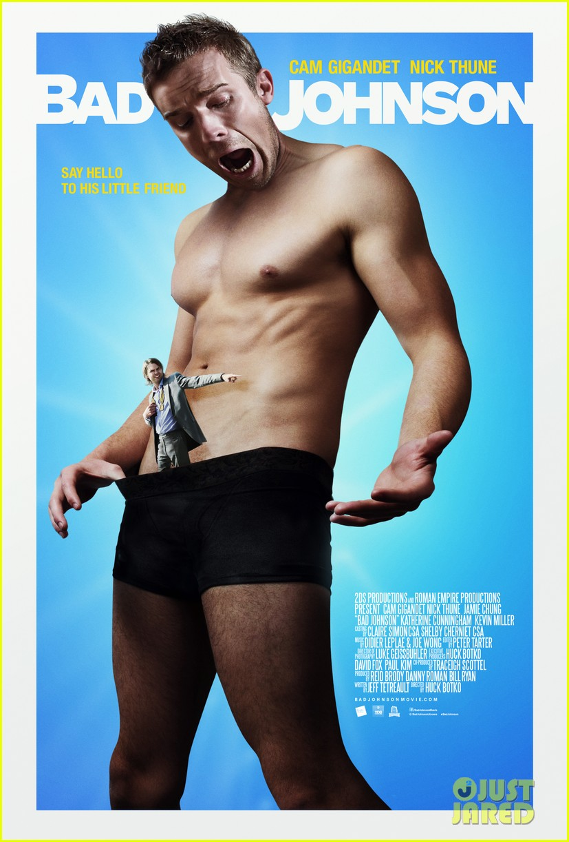 cam gigandet shirtless in his boxer briefs for bad johnson poster 033070461