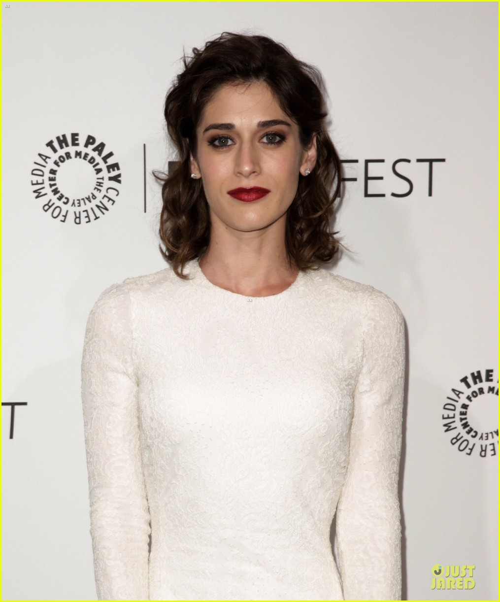 lizzy caplan michael sheen masters of sex at paleyfest 103078073