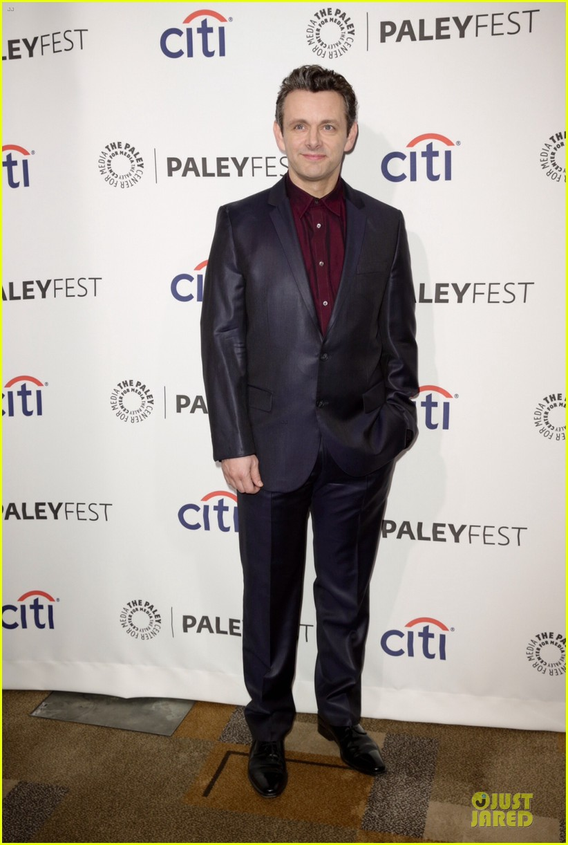 lizzy caplan michael sheen masters of sex at paleyfest 143078077
