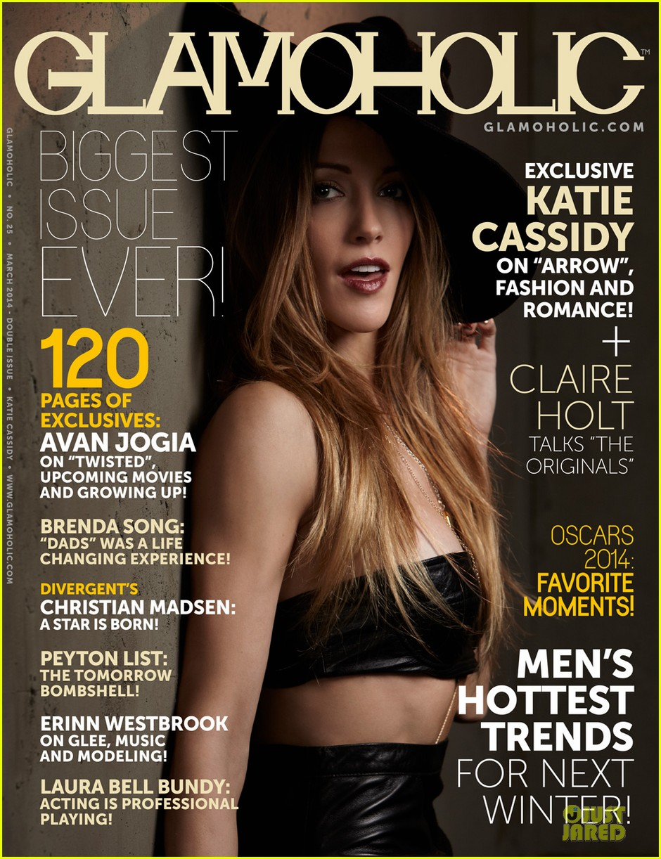 katie cassidy bares midriff for glamoholic cover 103076585