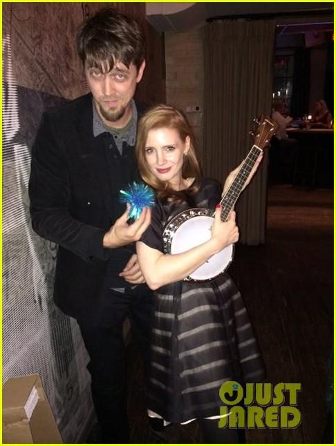 jessica chastain celebrates birthday with tom hiddleston 023077548