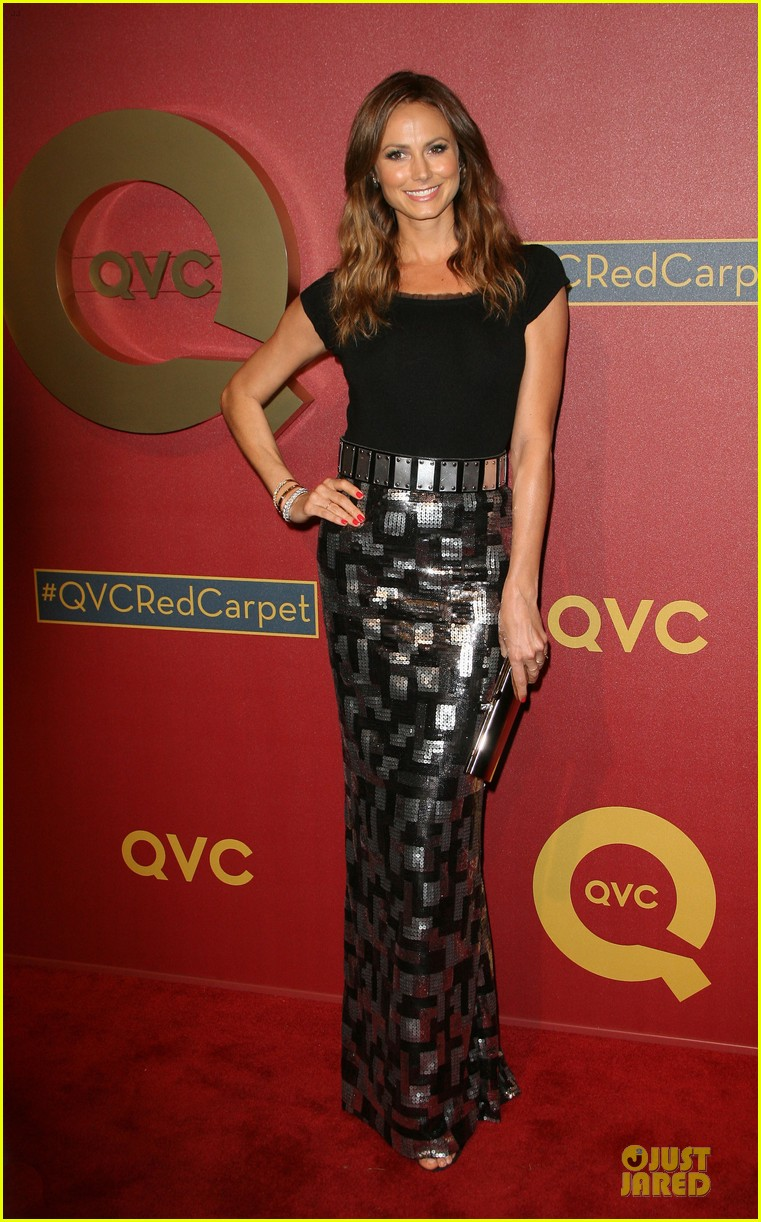 kristin chenoweth nikki reed rock florals stripes at qvc red carpet style event 133062778