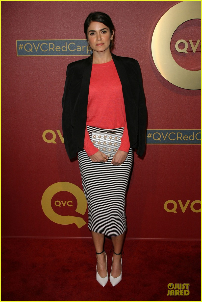 kristin chenoweth nikki reed rock florals stripes at qvc red carpet style event 153062780