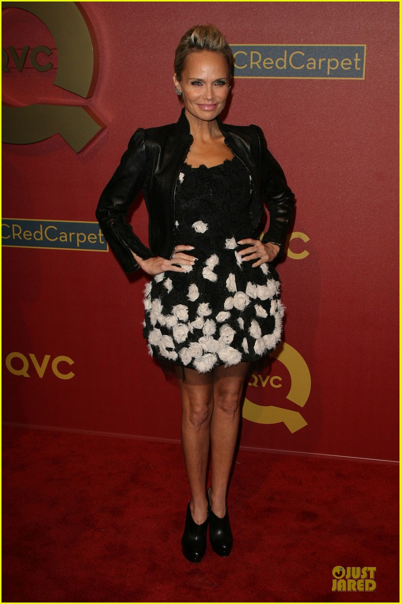 kristin chenoweth nikki reed rock florals stripes at qvc red carpet style event 193062784