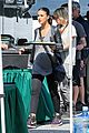 emmanuelle chriqui wears fake baby bump on entourage movie set 16
