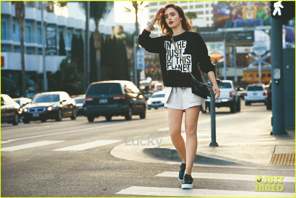 lily collins covers lucky magazine april 2014 013074882