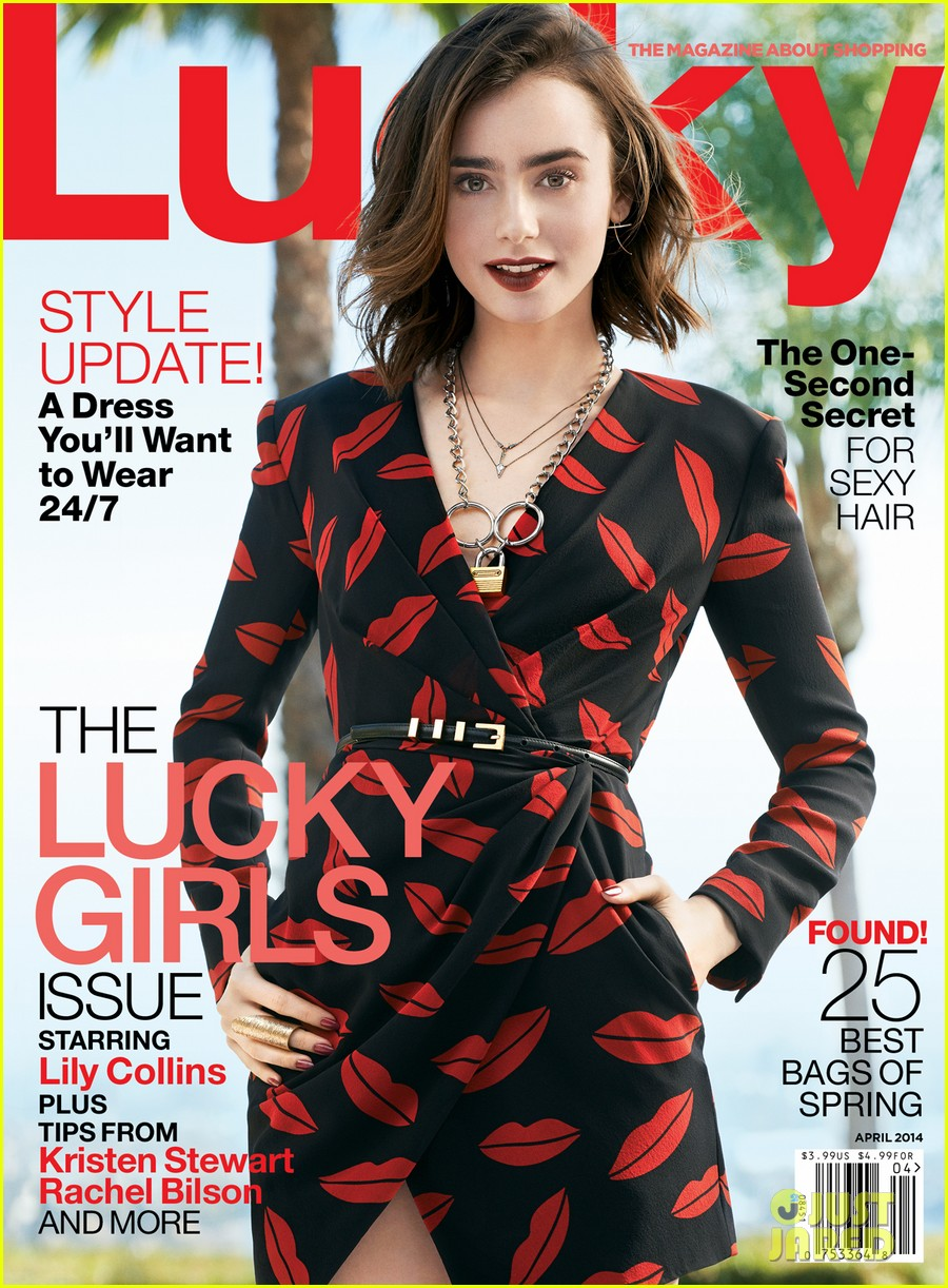 lily collins covers lucky magazine april 2014 023074883
