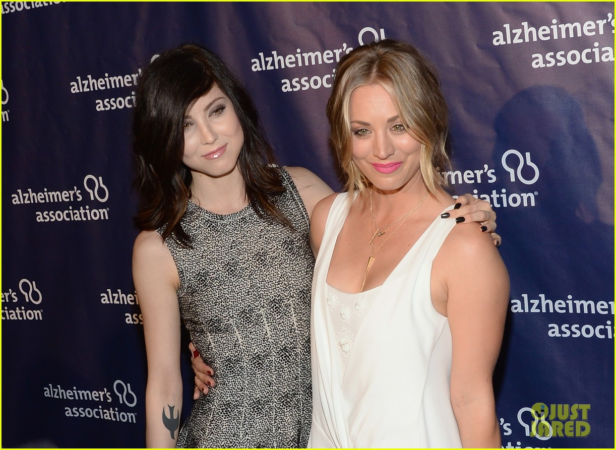 kaley cuoco attends a night at sardis with ryan sweeting sister briana 123079556