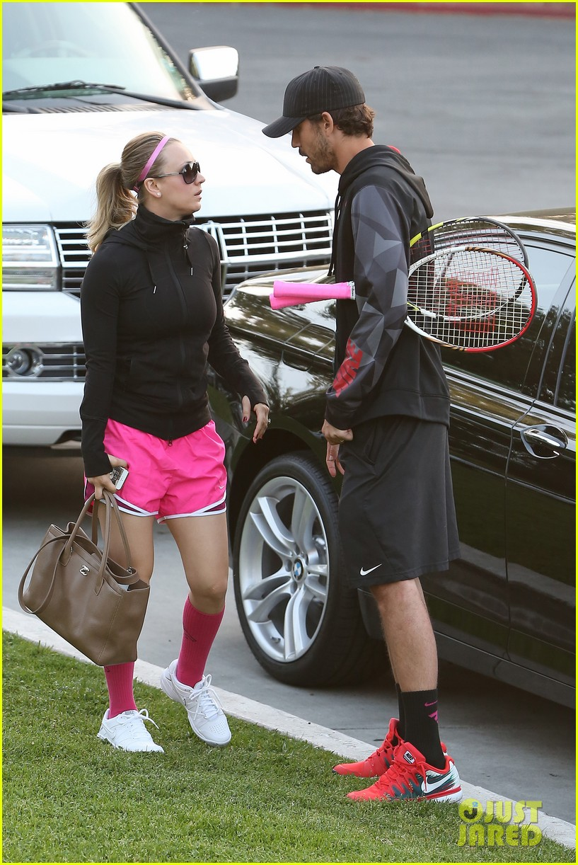 kaley cuoco ryan sweeting compete in tennis match end game with a sweet smooch 073077001