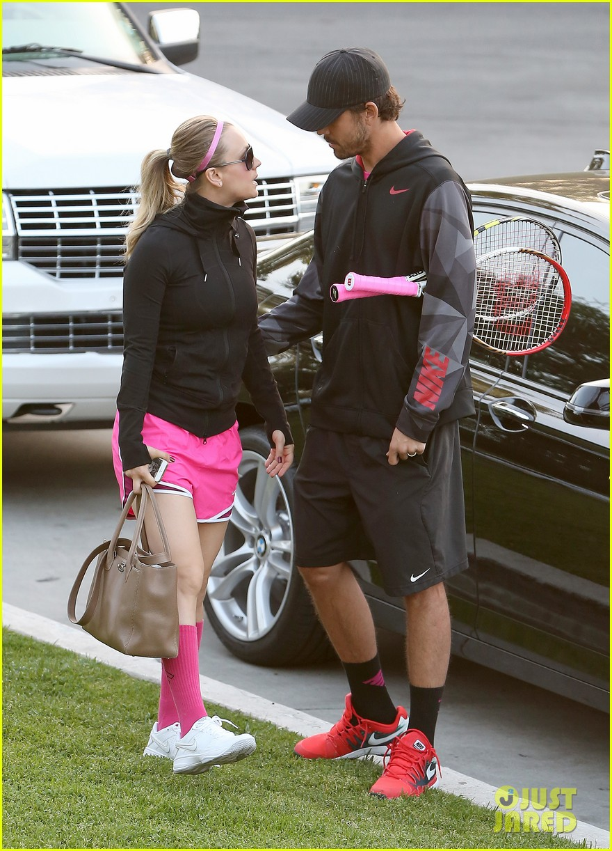 kaley cuoco ryan sweeting compete in tennis match end game with a sweet smooch 09