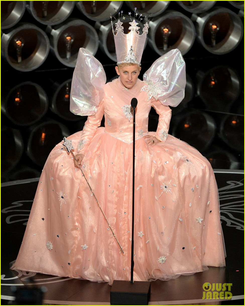 ellen degeneres is wizard of ozs glinda at oscars 2014 video 01