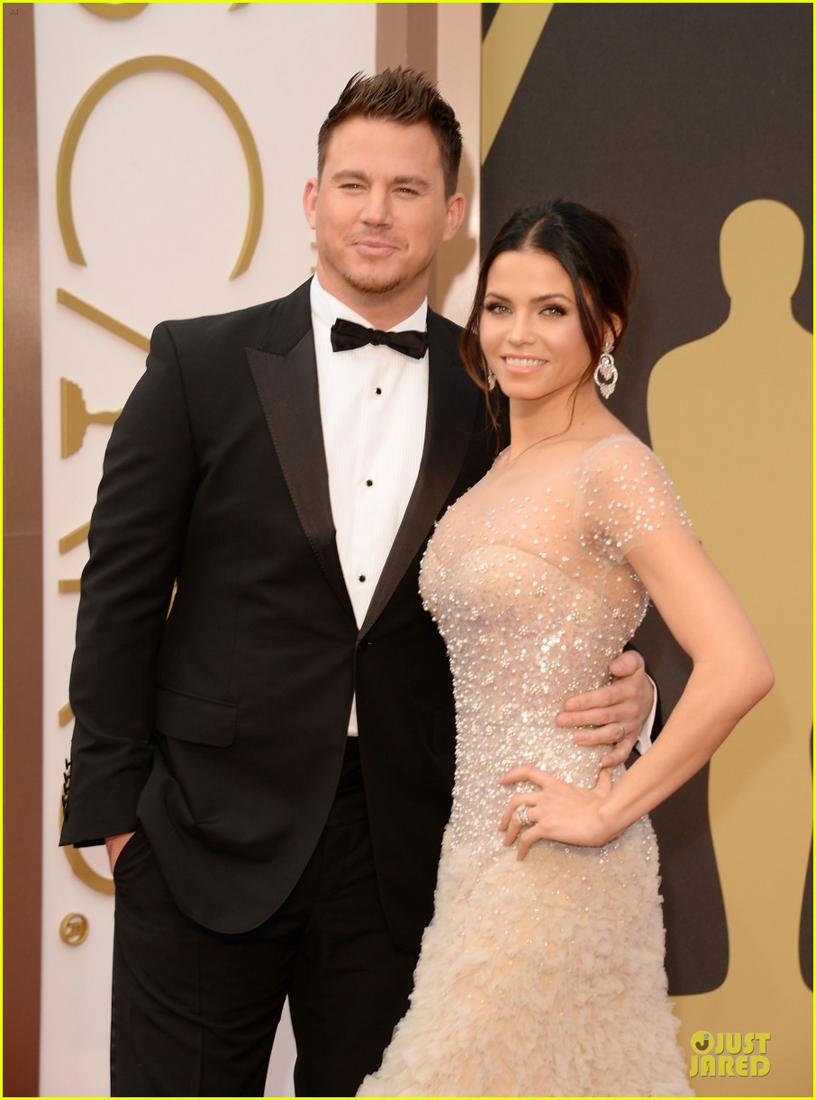 jenna dewan nude fairy on oscars 2014 red carpet with channing tatum 043063954