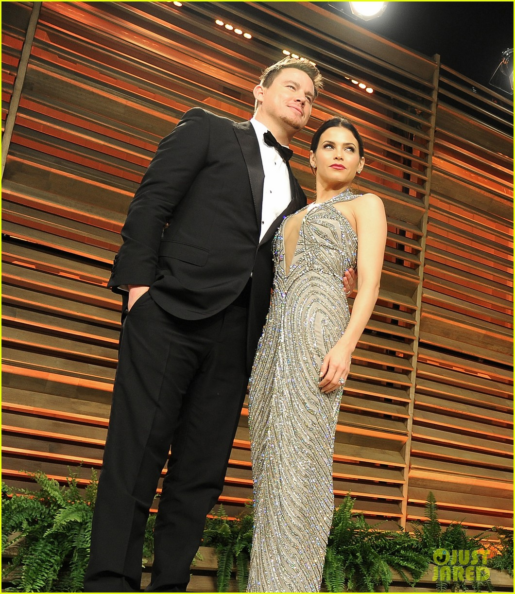 jenna dewan channing tatum vanity fair oscars party 2014 02