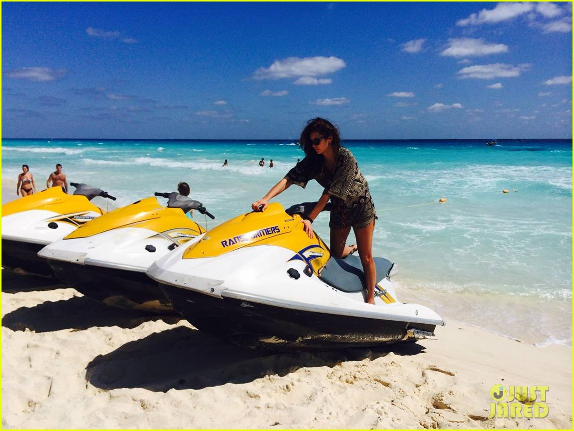 nina dobrev wears chic cover up over her bikini on cancun vacation 043067212