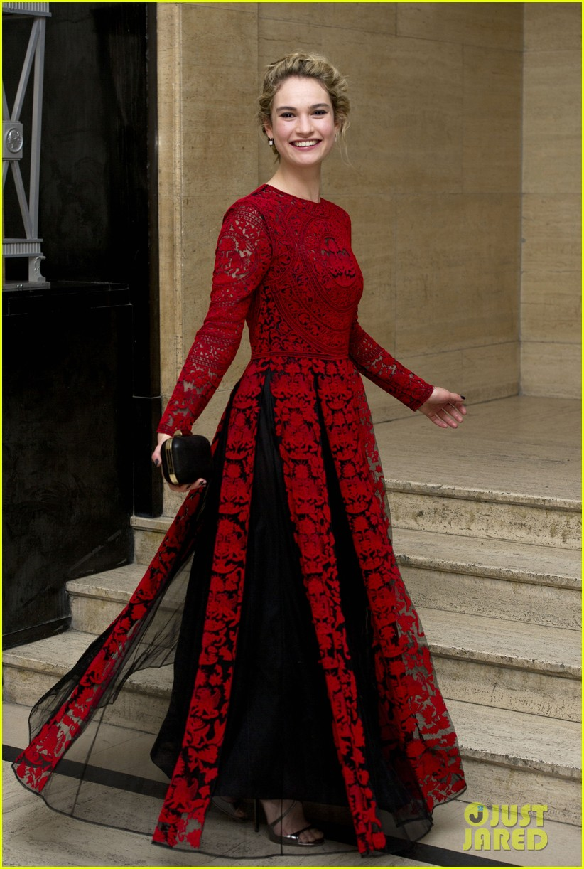 michelle dockery lily james downton abbey changing faces gala 053080305