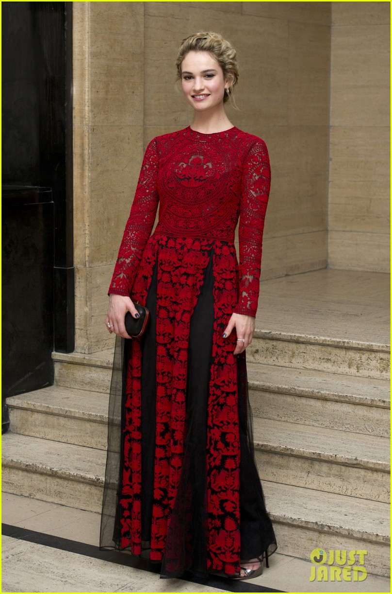 michelle dockery lily james downton abbey changing faces gala 063080306