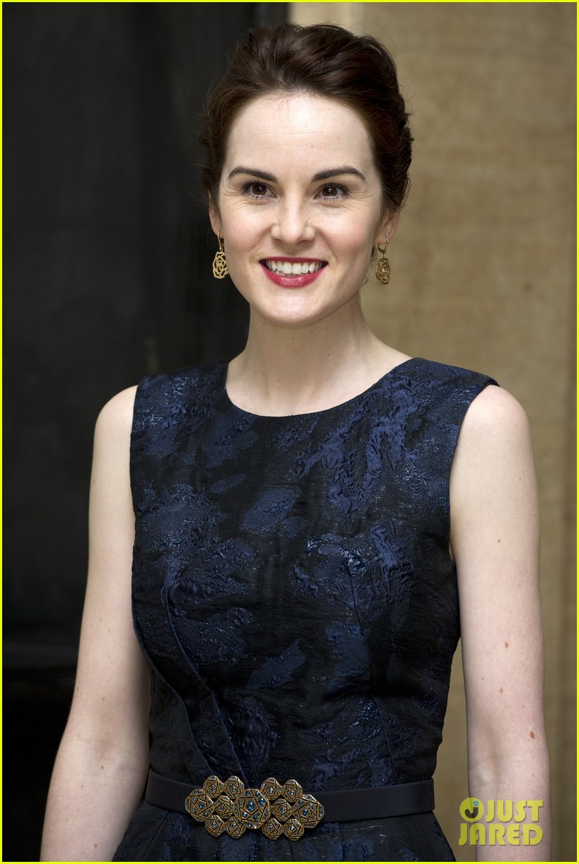 michelle dockery lily james downton abbey changing faces gala 07