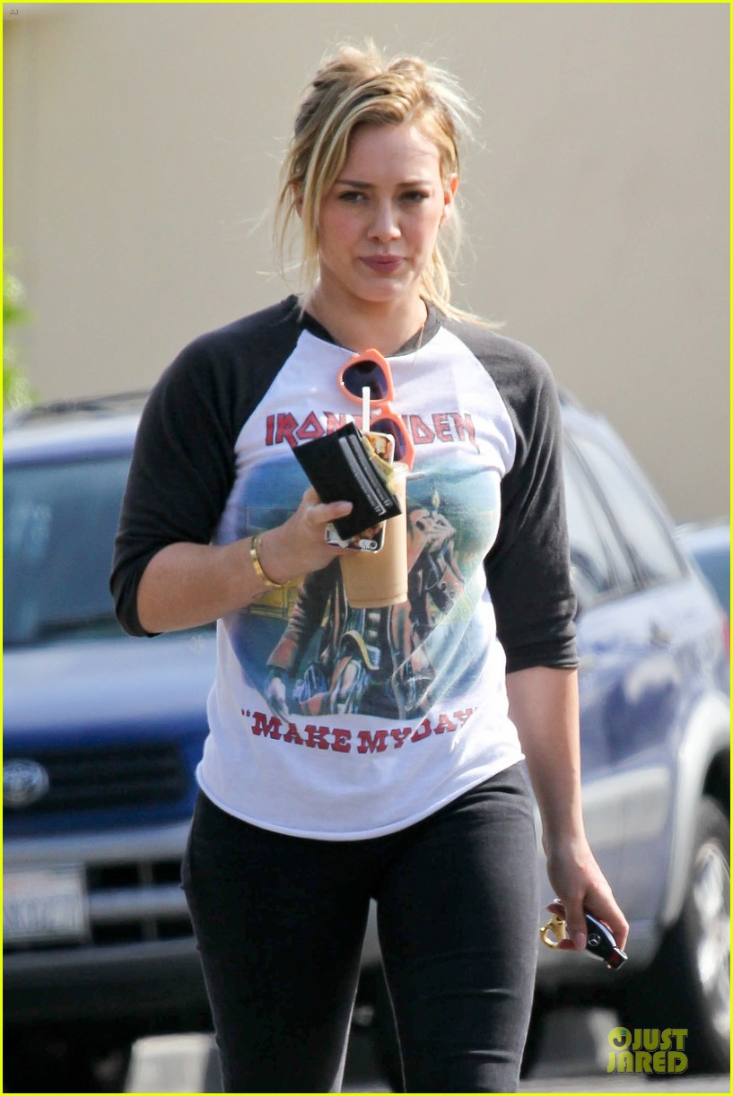 hilary duff heavy metal band iron maiden makes my day 023066155