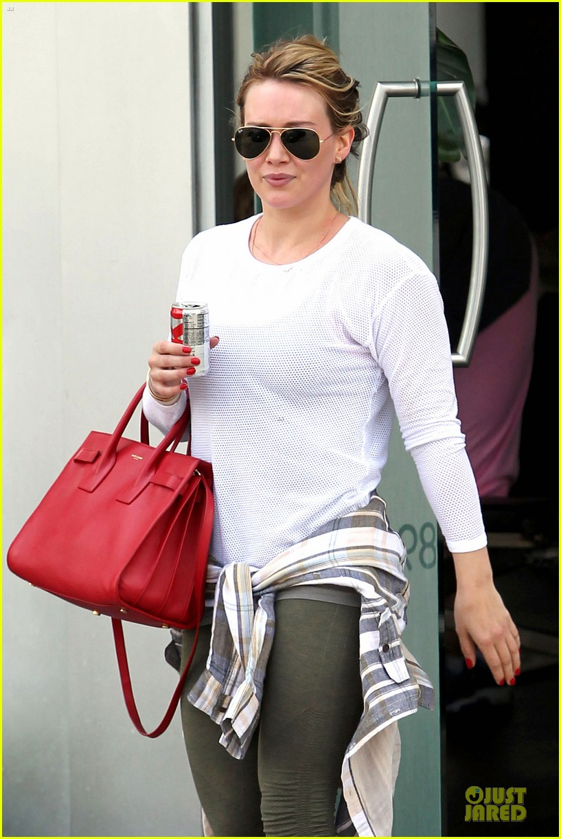 hilary duff stylish with red 043076519