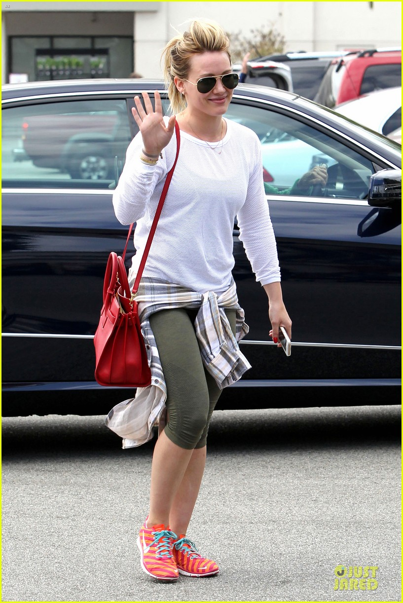 hilary duff stylish with red 083076523