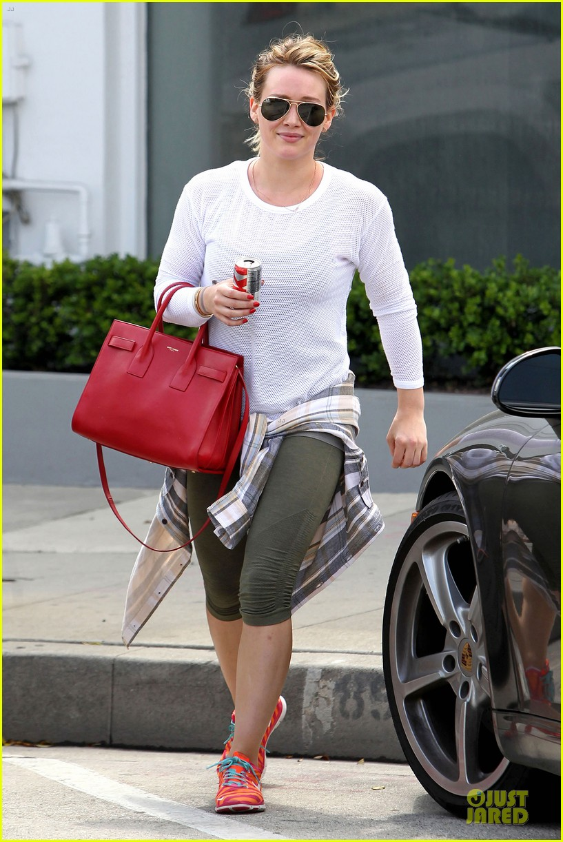 hilary duff stylish with red 093076524