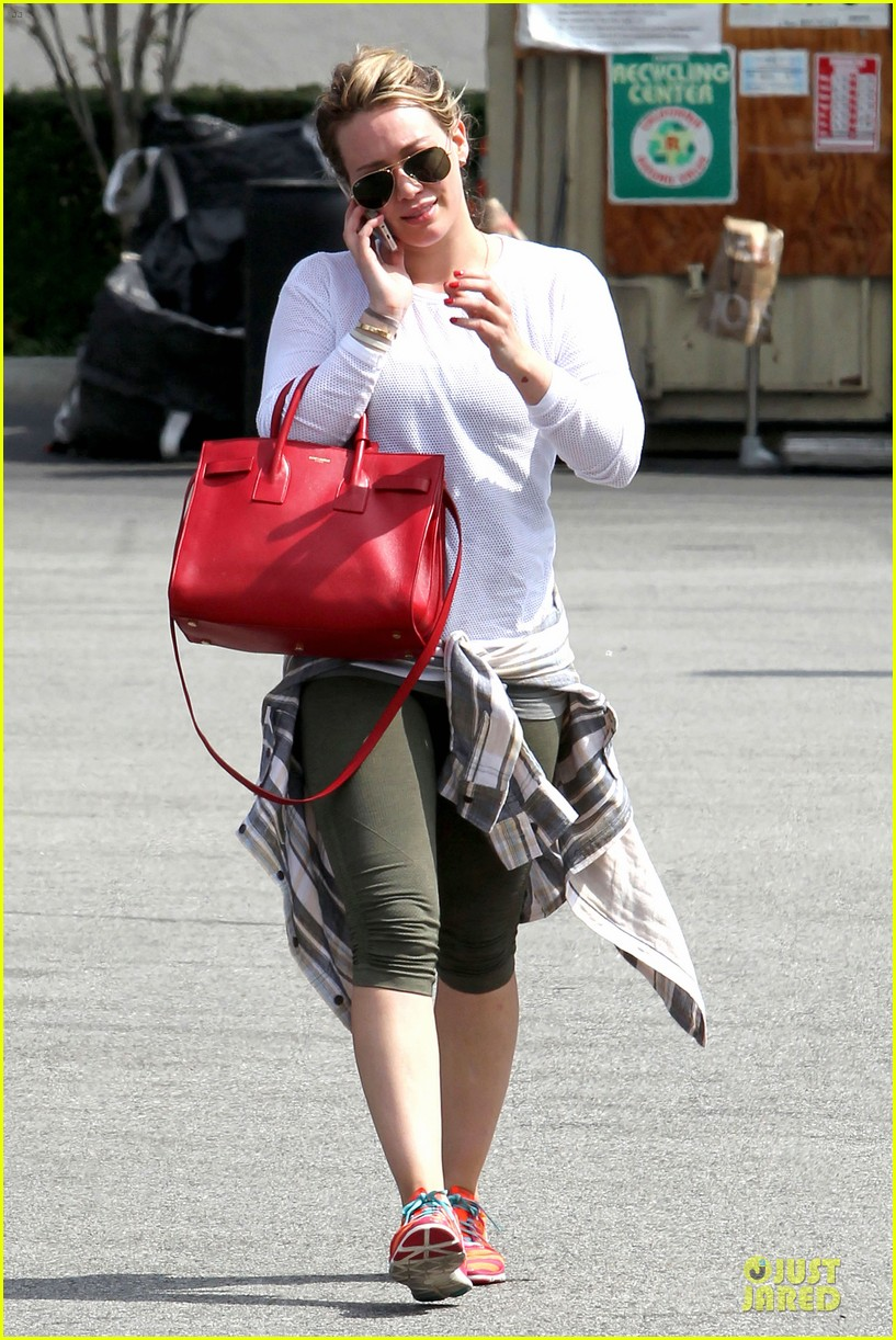 hilary duff stylish with red 123076527