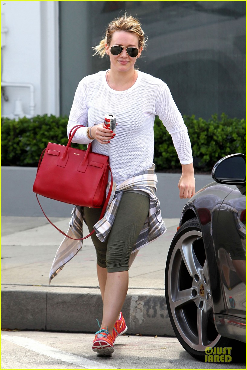 hilary duff stylish with red 133076528
