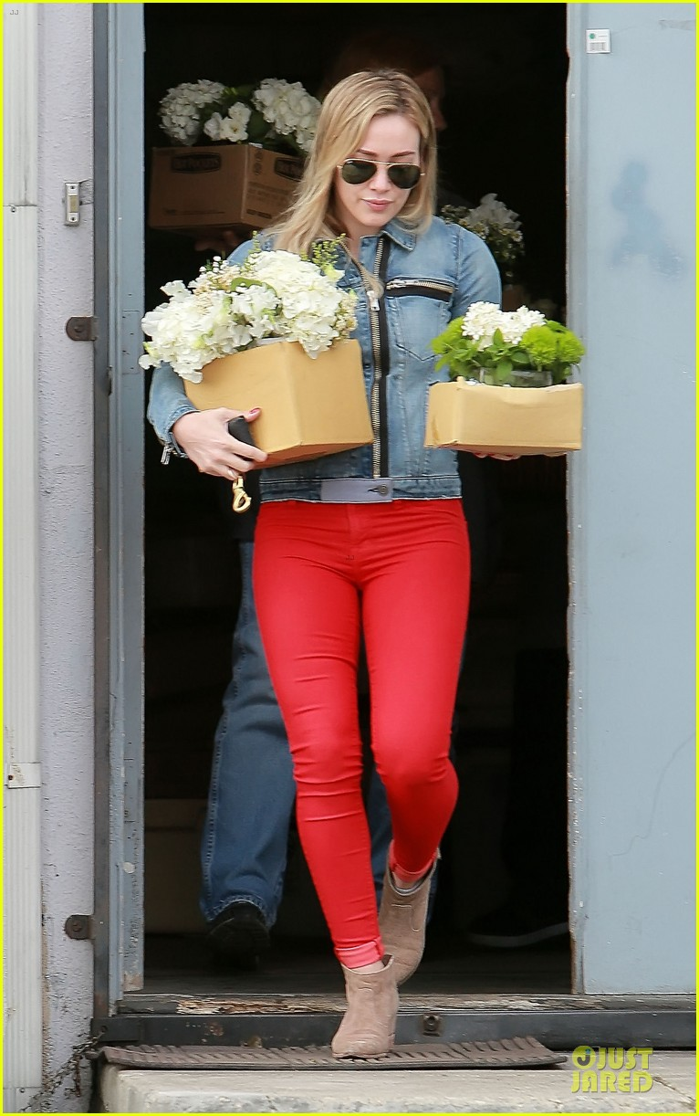 hilary duff stylish with red 183076533