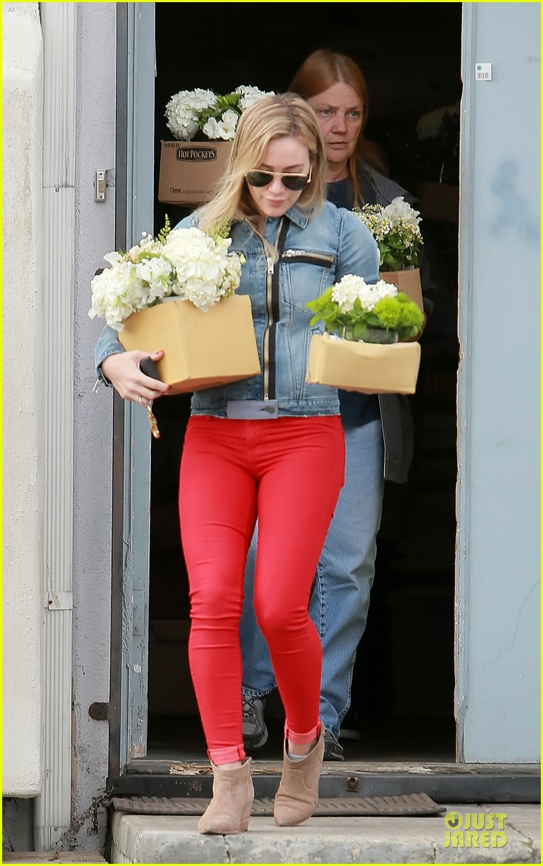 hilary duff stylish with red 203076535