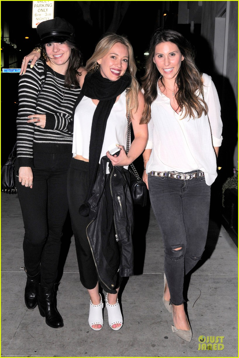 hilary duff sports studded heels for girls night 013068126