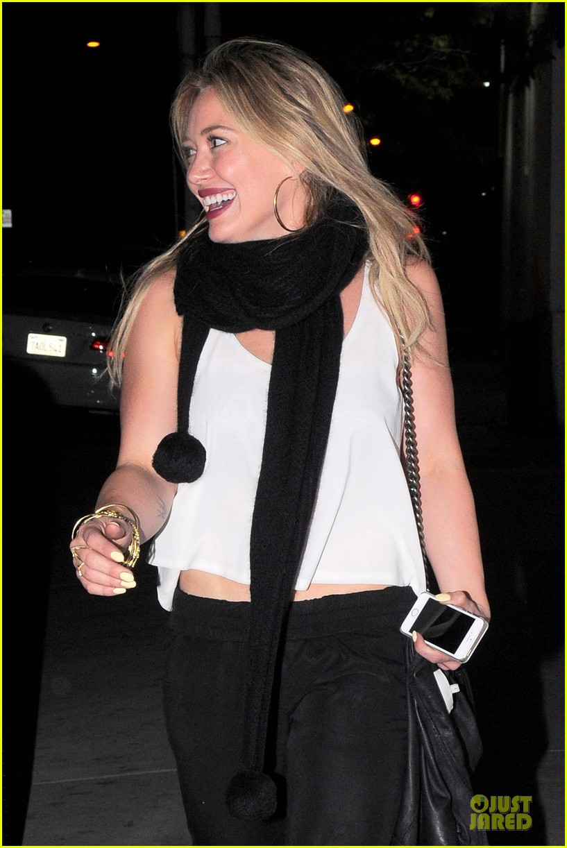 hilary duff sports studded heels for girls night 123068137
