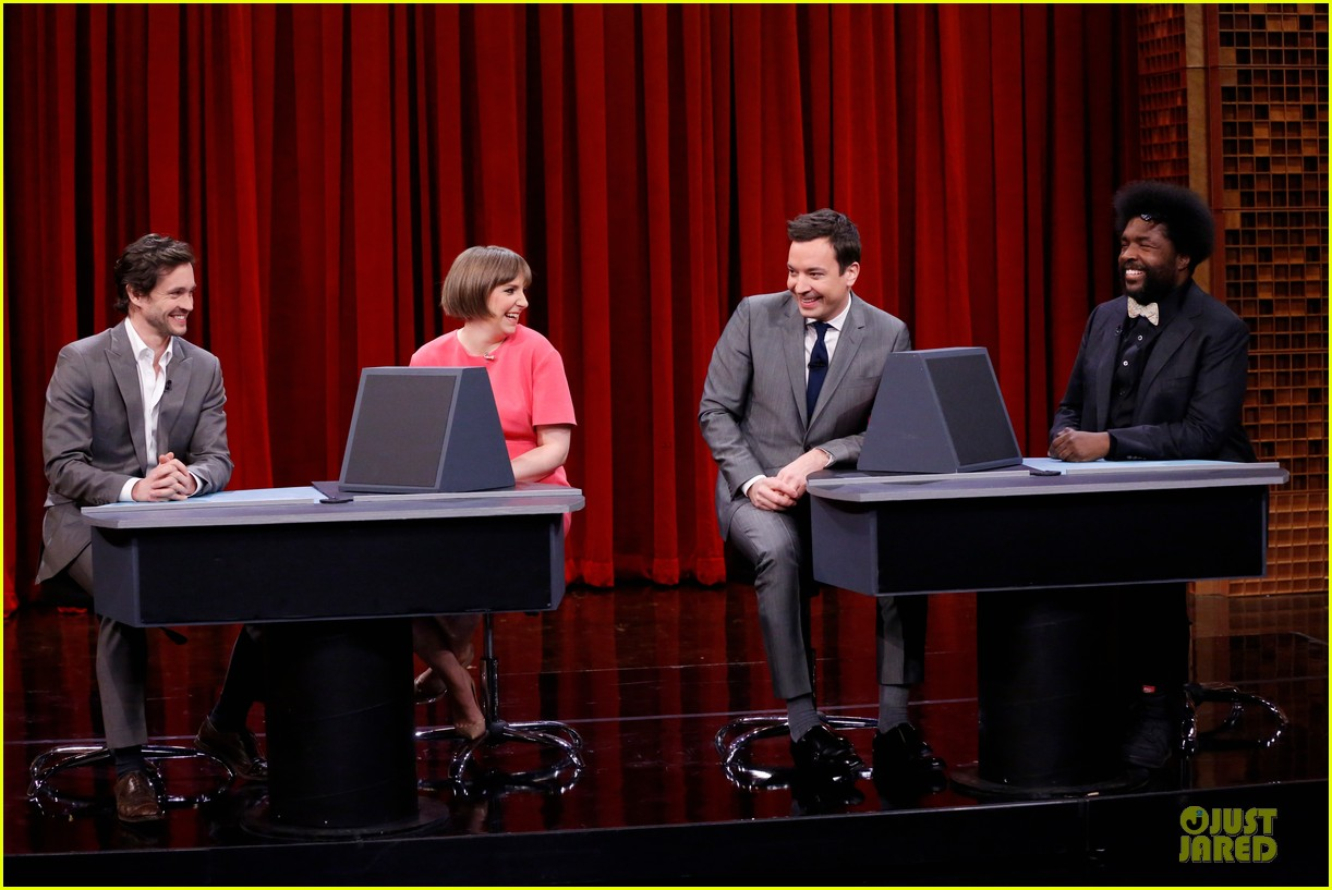 lena dunham hugh dancy play pyramid on tonight show 033074299