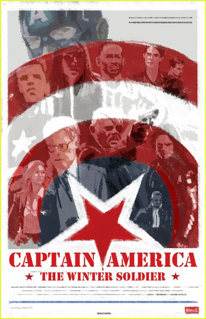 chris evans scarlett johansson go retro captain america poster 013077184