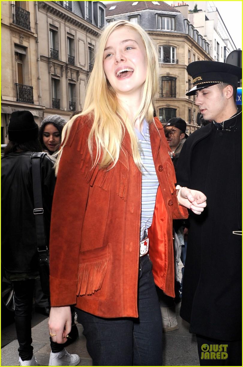 elle fanning makes a fringe fashion statement in france 023066098