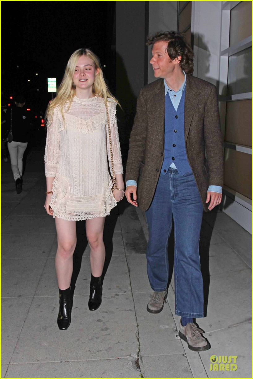 elle fanning teases the cameras in sheer dress at mr chow 033062662