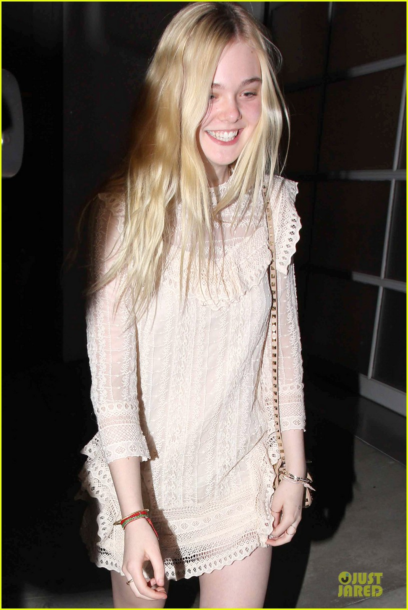 elle fanning teases the cameras in sheer dress at mr chow 043062663