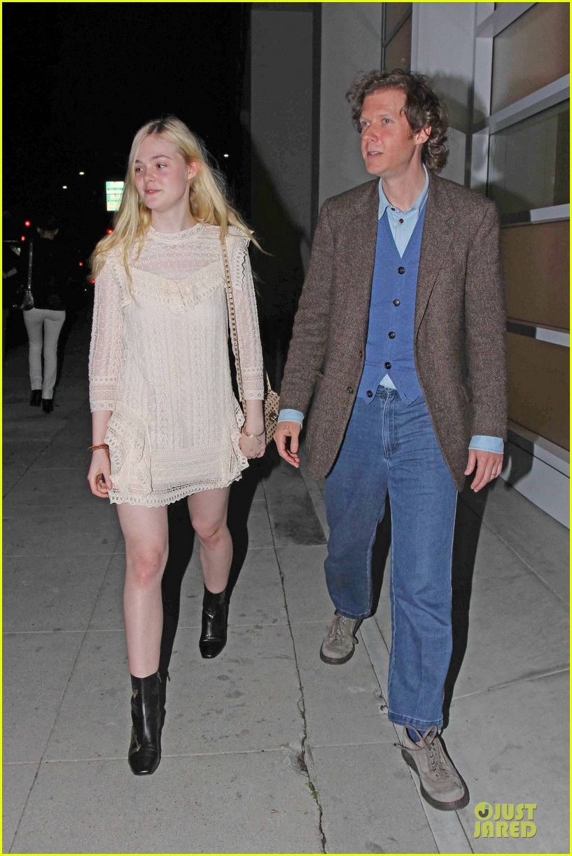 elle fanning teases the cameras in sheer dress at mr chow 053062664
