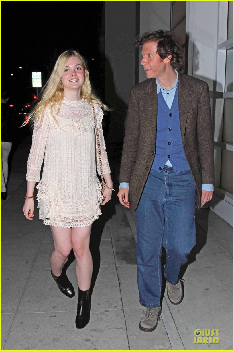 elle fanning teases the cameras in sheer dress at mr chow 063062665