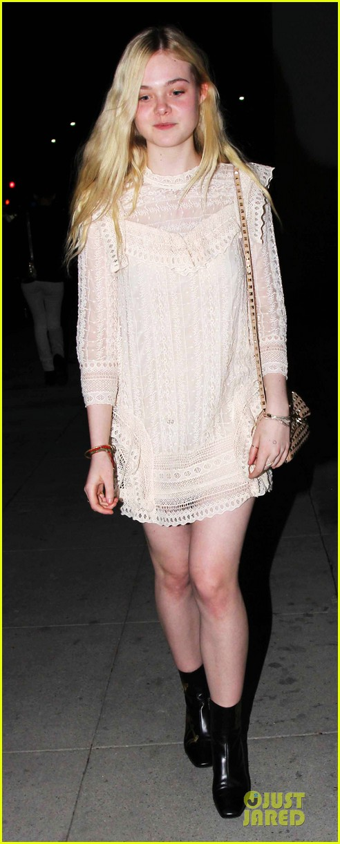 elle fanning teases the cameras in sheer dress at mr chow 073062666