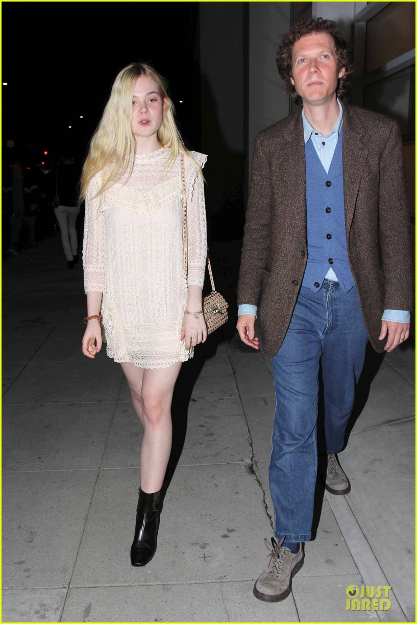 elle fanning teases the cameras in sheer dress at mr chow 083062667