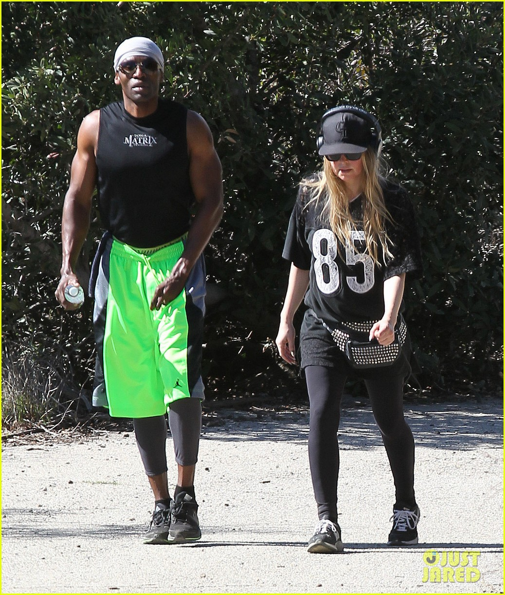 fergie rocks mademoiselle jersey for sunday workout 063069244