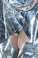 lady gaga shines in silver foil outfit 14
